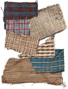 Fig. 8: Plantation-made fabric swatches by unnamed slaves of Mrs. J. J. McIver, Darlington, SC, 1861-1865. Cotton, hand woven. Collection of the Museum of the Confederacy, acc. 0985.10.25.  Also visit: https://www.facebook.com/photo.php?fbid=556706984373586=a.259483604095927.64790.186394114738210=1