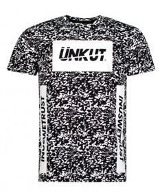 T-shirt Unkut Splash Noir