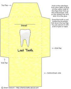 free 'lost tooth' printable envelope template.