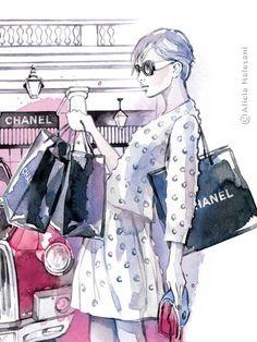 I love Chanel. -CHANEL- Covent Garden, London - June 2013 by Alicia Malesani, via Behance