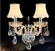 New Arrival K9 Crystal wall Lamp luxury Bedroom Bedside Wall Candle K9 crystal wall lamp Wall Scones AC 100% Guaranteed