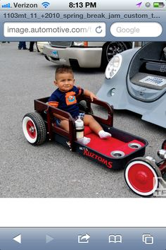 Lowered kids wagon