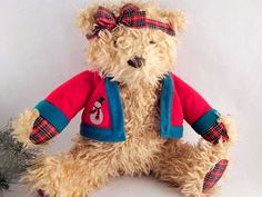 Merrily Bear Hallmark Christmas Collectible Vintage by Holiday365