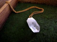Pointed Crystal Quartz Necklace