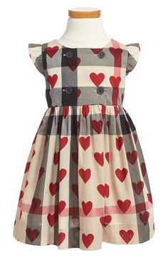 Burberry Cap Sleeve Check Print Dress (Little Girls & Big Girls) available at #Nordstrom
