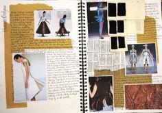 Fashion Sketchbook - Hussein Chalayan fashion design research