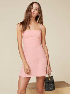 Reformation | Summer | Minimalist Pink Auden Dress $178