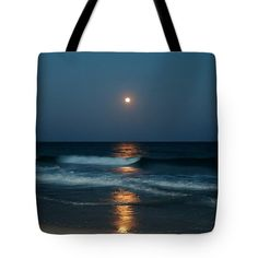 Blue Tote Bag featuring the photograph Blue Moon by Cynthia Guinn