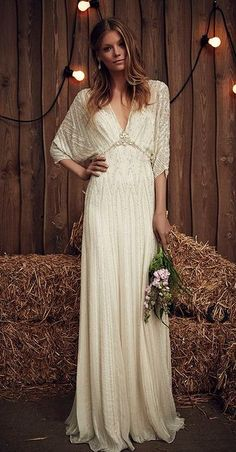 Wedding Dresses For Curvy Brides Featured Dress: Jenny Packham;Wedding Dresses For Curvy Brides Featured Dress: Jenny Packham; Wedding Dresses Photos, Bohemian Wedding Dresses, Boho Dress, Bridal Dresses, Maxi Dresses, Relaxed Wedding Dress, Bohemian Bride, Bobo Wedding Dress, Vintage Boho Wedding Dress