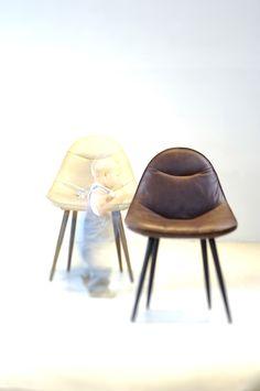 Label | design by Gerard van den Berg: chair Meike in Bruut leather