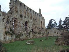The ruins of Jervaulx Abbey, North Yorkshire, England