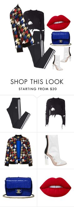 """""""Day essentials"""" by li-janee on Polyvore featuring adidas, adidas Originals, Manon Baptiste, Chanel and Lime Crime"""