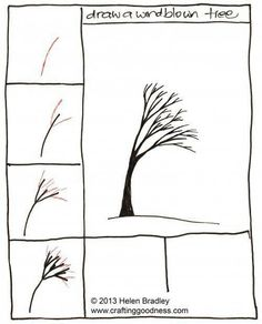 Windblown Tree - Couldn't get any simpler.