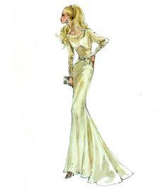 Robert Best - Barbie Champange Silk Sketch