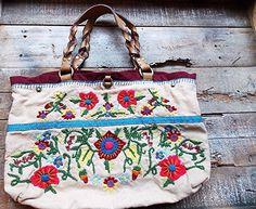 883ebdbb5 Lucky Brand Hand Bag BOHO Embroidered Floral Leather Purse Shoulder Bag  Hippie #LuckyBrand #ShoulderBag