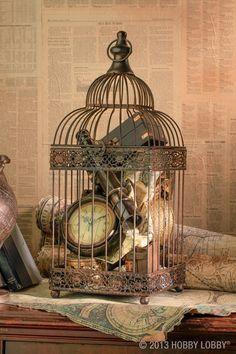 retro bird cage decoration ideas to imitate - living ideas and decoration- Retro Vogelkäfig Deko Ideen zum Nachmachen – Wohnideen und Dekoration retro bird cage decoration ideas to imitate - Vintage Home Decor, Diy Home Decor, Room Decor, Vintage Sofa, Vintage Bank, Vintage Items, Victorian Decor, Vintage Tools, Vintage Kitchen