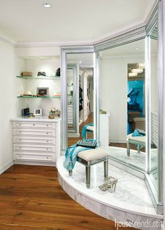 3 way mirror, love this stylish design!   Home sweet home ...