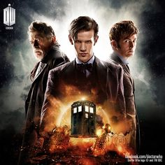 """Doctor Who celebrated a half-century of Time Lords with their biggest special yet. The anniversary episode, titled """"The Day of Watch Doctor, Bbc Doctor Who, Torchwood, Geronimo, Bad Wolf, David Tennant, Dr Who, Superwholock, Books"""