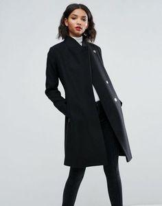 ASOS Smart Slim Coat with Funnel Neck