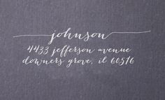 Return Address Stamp - Great for Wedding Invitations - Calligraphy font