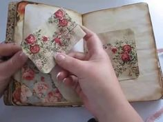 Lovely vintage/coffee dyed pages