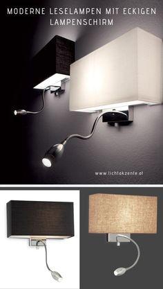 LED Wandleuchte mit Schalter Wohn Schlaf Zimmer Diele Gang Flur Lampe Stoff Grau