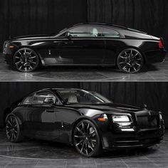 Onyx Black, White Interior Rolls-Royce Wraith, Ridin Glasshouse, No Tint Needed!!!!!: @PunIntendedMag Luxury redefined! Rolls Royce Wraith on http://punintendednews.club