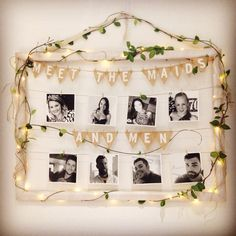 Wedding and engagement photo board