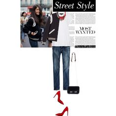"""""""Chic Street Style: Get The Look With @KATHERINE KWEI And The #carrie #mini #shoulderbag."""" by irishrose1 on Polyvore"""