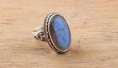 Pendants – Labradorite Ring, 925 Sterling Silver Jewelry – a unique product by Midas-Jewelry on DaWanda