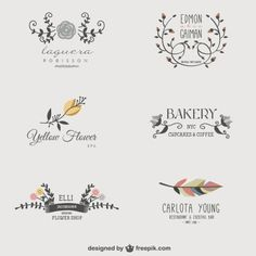 Floral business logos