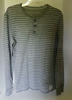 Womens American Eagle Gray Long Sleeve Henley Tee Vintage Fit S/P | Clothing, Shoes & Accessories, Women's Clothing, Tops & Blouses | eBay!