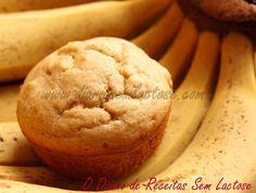 O Diário de Receitas Sem Lactose: Muffins de Quinoa e Banana com Calda de Brigadeiro