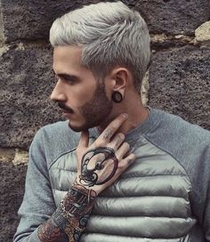 Men's Toupee Hair Hairpieces for Men inch Thin Skin Hair Replacement System Monofilament Net Base Mix Grey Hair) Cool Hairstyles For Men, Hairstyles Haircuts, Haircuts For Men, Straight Hairstyles, Hairstyle Ideas, Hair And Beard Styles, Short Hair Styles, Grey Hair Men, Men Hair