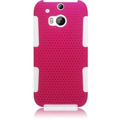 Eaglecell Hybrid Mesh HTC One M8 Case - Hot Pink/White
