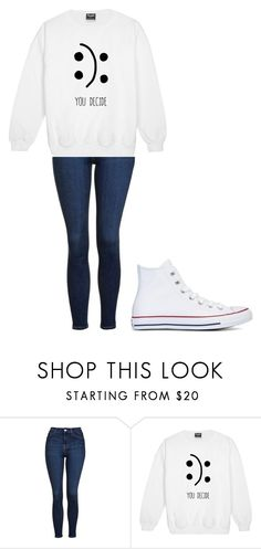 """Untitled #278"" by thenerdyfairy on Polyvore featuring Topshop, Converse, cute, fashionWeek, fashionable and fashionset"