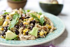 Eat Yourself Skinny » BBQ Chicken Quinoa Salad