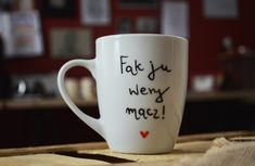 instagram: @jeszczelepiej Mugs, Tableware, Handmade, Instagram, Dinnerware, Cups, Dishes, Craft, Mug