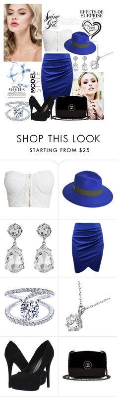 """""""Untitled #21"""" by nermina-hasanbasic ❤ liked on Polyvore featuring NLY Trend, Maison Michel, Kenneth Jay Lane, Allurez, Michael Antonio and Chanel"""