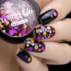 Nail Art magnetic designs for fascinating ladies. Nail Art Design Gallery, Best Nail Art Designs, Short Nail Designs, Stylish Nails, Trendy Nails, Camouflage Nails, Confetti Nails, Sparkly Nails, Polka Dot Nails