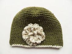 Green Beanie Hat Golden Heart, Heart Crafts, Beanie Hats, Green