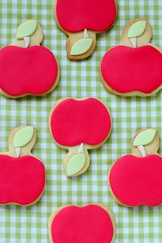 Very cute apple cut out cookies!