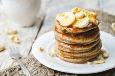 Turn overripe, blackened bananas into sweet, fluffy fancakes. This banana pancake recipe yields gloriously fluffy pancakes that everyone will like. Peanut Butter Pancakes, Banana Oatmeal Pancakes, Protein Pancakes, Peanut Butter Banana, Vegan Pancakes, Fluffy Pancakes, Buttermilk Pancakes, Banana Nut, Pancake Healthy