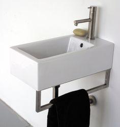 Wall-Mounted Guest Bath Sinks   Design Trends   Decorate   Home & Garden
