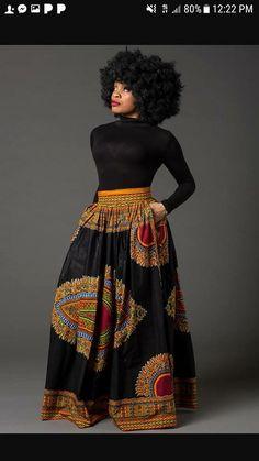 Black Dashiki African maxi skirt African print skirt for women Ankara maxi skirt African skirt long skirt African print skirt MARCIA African Print Skirt, African Print Dresses, African Fashion Dresses, African Dress, African Fabric, African Prints, Long African Skirt, African Inspired Fashion, African Print Fashion