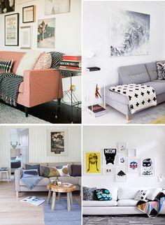 Nem só de almofadas se faz a decoração de um sofá né?! Já faz um tempo que eu admiro…