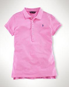 Einfarbiges Kurzarm-Polo - Poloshirts & Rugbys Mädchen 7-14 Jahre - Ralph Lauren Deutschland