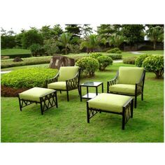 5-Piece Metal Patio Chat Furniture Set.Opens in a new window
