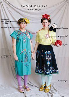 Frida Kahlo costume idea from @HouseLarsBuilt | Easy Halloween Costumes Costume Halloween, Halloween Diy, Art Costume, Costume Ideas, Creative Halloween Costumes, Cool Costumes, Cosplay Costumes, Mexican Dresses, Halloween Disfraces