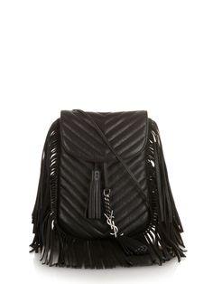 6230bad6e9 Anita leather fringed cross-body bag by Saint Laurent